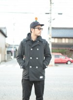 ROUGHANDRUGGED新作の進化したピーコートジャケットをブラックコーデで着こなしてみました