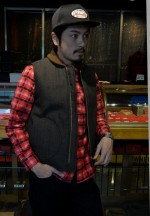 COOTIE クーティ 2014AW Printed Flannel Check L/S Work Shirtのコーデ