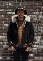 軽くて防寒性の高いフリースボアジャケットのコーデ(メンズ)/COOTIE