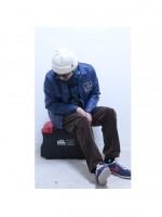 COOTIE新作のレザーガレージジャケット-Blue-を使ったootd