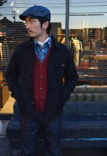 CALEE キャリー TWILL ALLOVER PATTERN WORK SHIRTの着こなしBlog