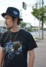 "HIDEANDSEEK / ハイドアンドシーク ""LIVE LIKE G S/S Tee"""