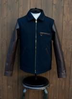 RADIALL 2014AW SLOW BURN 袖革ライダースジャケットの詳細